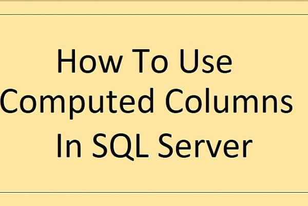 SQL Server Hesaplanmış Kolon