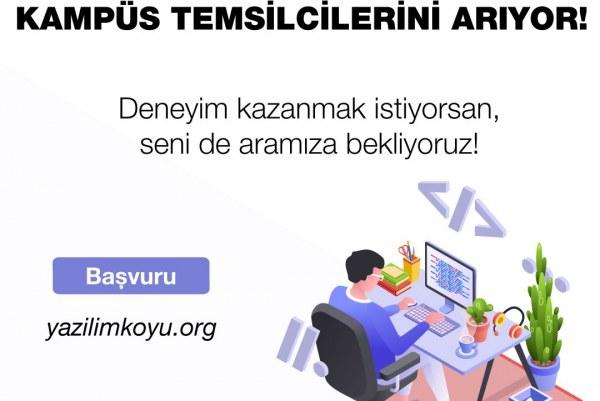 Yazılım Köyü Kampüs Temsilcilerini Arıyor!