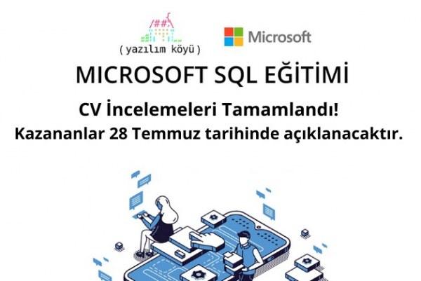 Microsoft SQL Server Eğitimi CV İnceleme Sonuçları