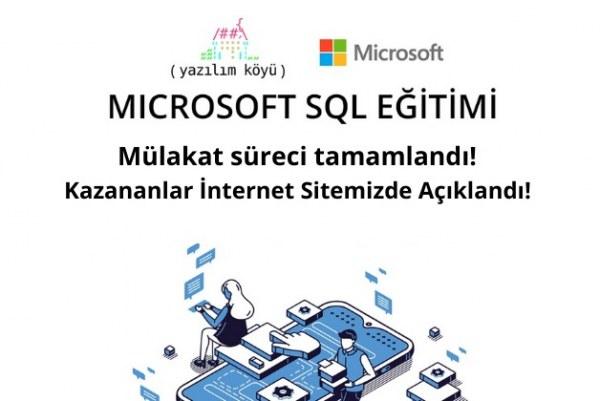 Microsoft SQL Eğitimi Mülakat Süreci Tamamlandı