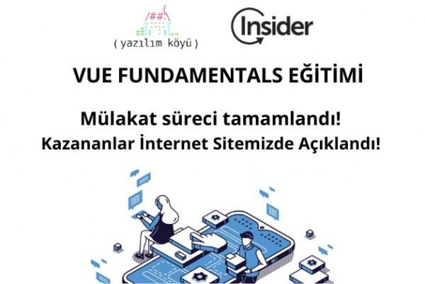 Insider VUE Fundemental Eğitimi Kazananları Açıklandı!