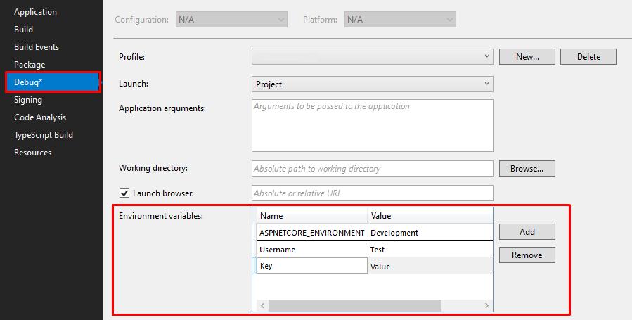 Web Project -> Properties -> Debug