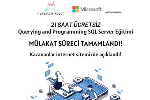 Querying and Programming SQL Server Eğitimine Katılmaya Hak Kazananlar!