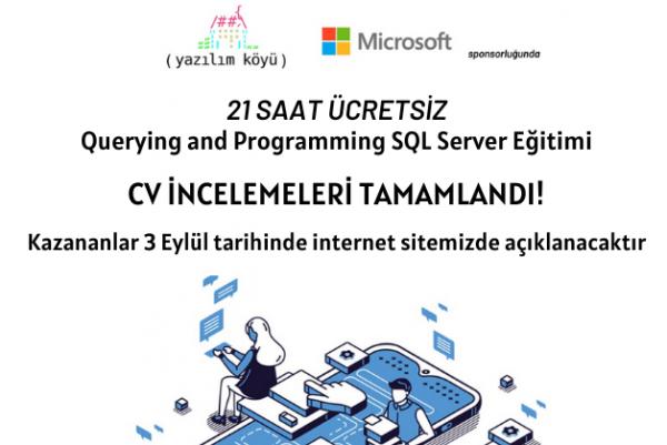 QUERYING AND PROGRAMMING SQL SERVER EĞİTİMİ MÜLAKAT SÜRECİ