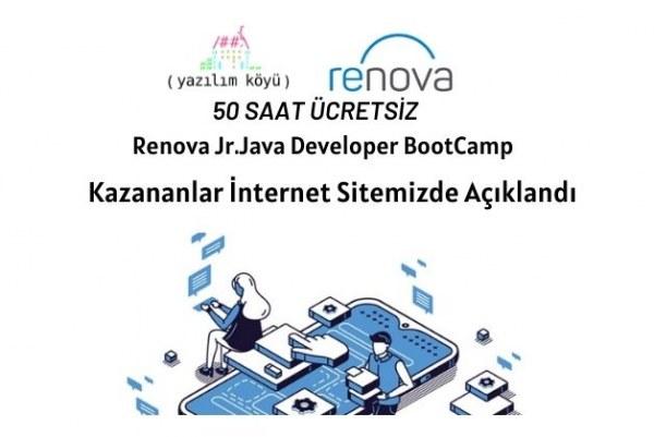 Renova Jr. Java Developer BootCamp'e Katılmaya Hak Kazananlar!