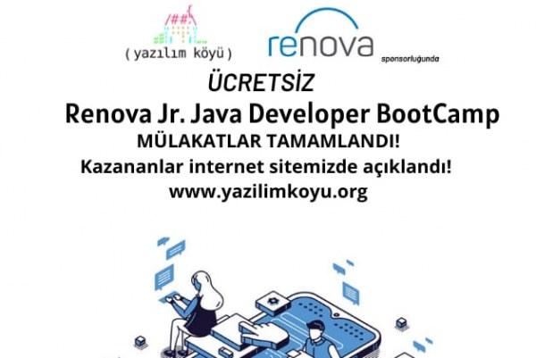 Renova Jr. Java Developer BootCamp eğitimimizde Proje Aşamasına Geçenler Açıklandı